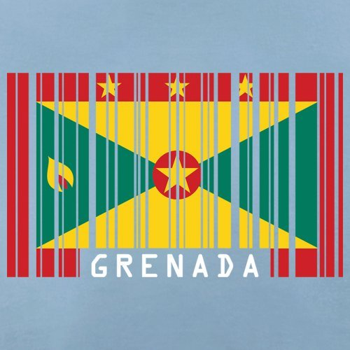 Grenada Barcode Flagge - Herren T-Shirt - 13 Farben Himmelblau