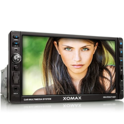 XOMAX XM-VRSU713BT Radio de coches Multimedia Player con 18 cm / 7 'Pantalla táctil + Bluetooth manos libres y reproducción de música a través de A2DP + conexión USB