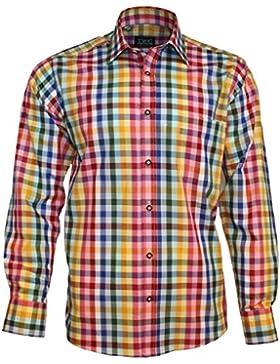 TWC Trachten Hemd, 100% Baumwolle, Kariert, in verschiedenen Farben