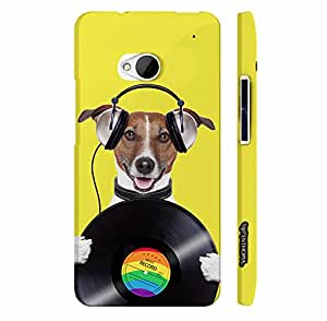 Htc One M7 DOG RECORD designer mobile hard shell case by Enthopia