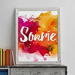 "Lámina original para enmarcar ""Sonrie""."