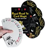 Magic Makers DVD Set - Royal Road To Card Magic Deluxe - Complete Set With DVD And Delands Marked Deck - Learn Over 100 Card Trick Effects, Beginner To Expert