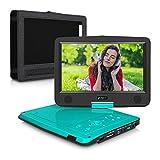 Lettore DVD portatile per auto verde-blu dvd player portatile Pumpkin con schermo 10.1 pollici Risoluzione 720P 1024*600,Lettore USB / SD Card, Ingresso AV IN / OUT,supporta MP4