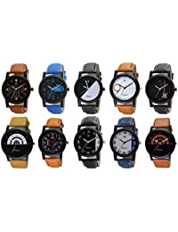 OM DESIGNER Analogue Multicolour Dial Men's Watch - O-6-7-8-9-12-30-29-22-24-26 (Pack of 10)