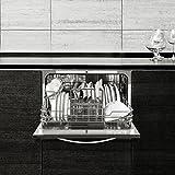 Klarstein Amazonia 6 Luminance Spülmaschine Tischgeschirrspülmaschine (1380 Watt, 55 cm breit, 6 Maßgedecke, geräuscharm, 6 Programme, Aquastop, LED-Kontrollleuchten) schwarz -