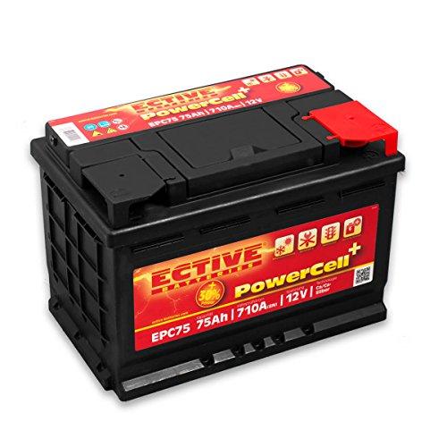 ECTIVE 75Ah 710A EPC-Serie 12V Autobatterie in 8 Varianten: 46Ah - 100Ah (wartungsfrei)