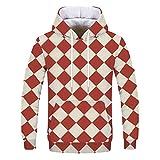 JUTOO Mode Liebt 'Casual Herbst Winter Druck Langarm Hoodies Sweatshirt(rot,Medium)