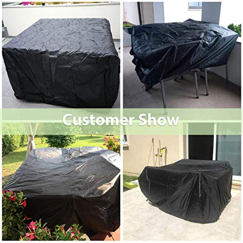 Essort Patio Furniture Covers, Outdoor Sectional Furniture Set Covers, Table Chair Sofa Winter Covers, Waterproof Snow…