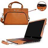 HP Omen 15 Hülle,2 in 1 Spezielles Design eine PU Leder Schutzhülle + Portable Laptoptasche für 15.6