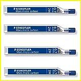 Staedtler Mars Micro Carbon 250Bleistiftmine 0,7mm 2H–Nachfüller–4Röhren/Packungen (48Führt) 2H