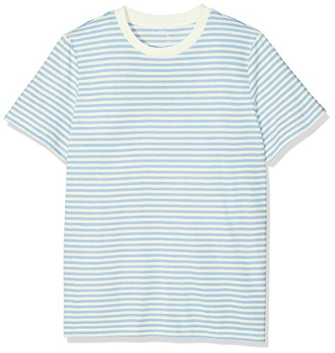 SELECTED FEMME Sfmy Perfect Ss Tee-Box Cut-Stri. Noos, T-Shirt Femme Multicolore (snow White Stripes:xenon Blue)