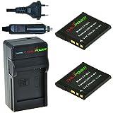 ChiliPower Sony NP-BN1 Kit: 2x Batterie (850mAh) + Chargeur pour Sony Cybershot DSC-WX5, DSC-WX7, DSC-WX9, DSC-WX30, DSC-WX50, DSC-WX70, DSC-WX80, DSC-WX150, DSC-QX100, DSC-T99, DSC-T110, DSC-TF1, DSC-TX9, DSC-TX10, DSC-TX20, DSC-TX30, DSC-TX55, DSC-TX66, DSC-TX100V, DSC-TX200V, DSC-W320, DSC-W330, DSC-W350, DSC-W360, DSC-W380, DSC-W390, DSC-W515PS, DSC-W520, DSC-W530, DSC-W550, DSC-W560, DSC-W570, DSC-W580, DSC-W610, DSC-W620, DSC-W650, DSC-W690, DSC-W710, DSC-W730, DSC-W810, DSC-W830