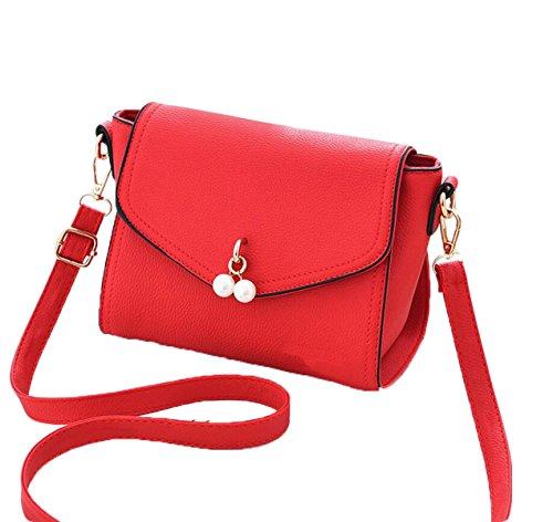 Ms. Messenger Bag Semplice Borsa A Tracolla Di Modo Della Borsa Sacchetto Estate Selvaggia Piccolo Pacchetto Quadrato Red