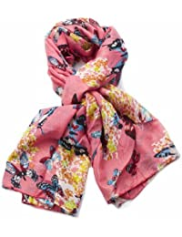 Beautiful Butterfly Printing Scarf London Fashion Butterfly Printed Long Shawl Scarves (Pink)