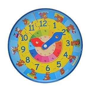 Item- Reloj Encajes Madera, 30 cm (JE-145204)