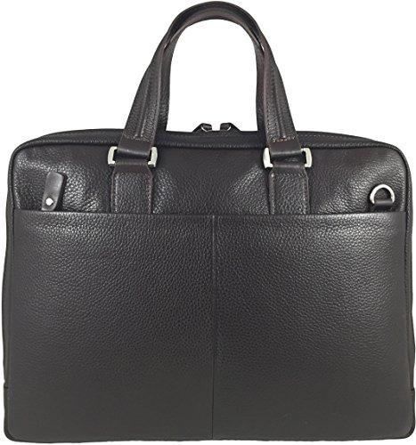 Zavelio Umhängetasche / Schultertasche / Laptoptasche / Messenger Bag aus echtem Leder Braun
