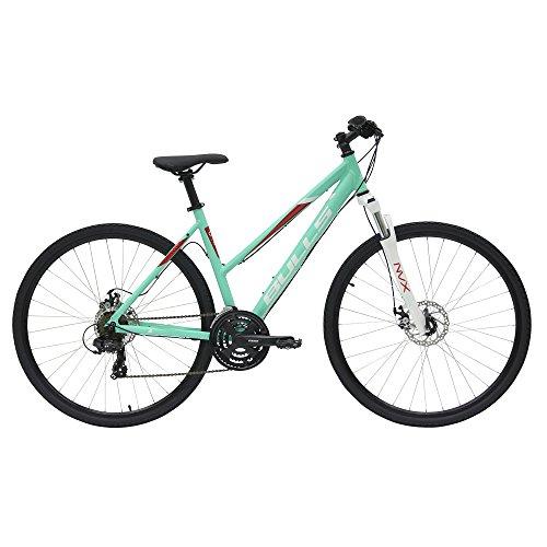 Bulls Wildcross Damenfahrrad 2018 Frauen Tour Crossbike mit Federgabel 28 Zoll, Rahmenhöhe:48 cm, Farbe:grün