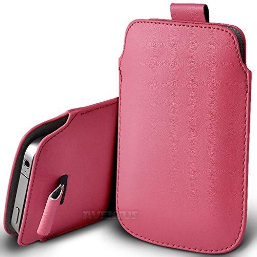 Aventus (Nero) Apple iPhone 7 Pro Custodia Protettiva Pull Tab Cord in Finta Pelle per Cellulare Rimovibile con Cucita Banda Estraibile Rosa