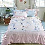 DACHUI Reine Baumwolle Frühling und Sommer Bettwäsche kleine frische Serie weichen atmungsaktiven Textil verpackt, CH 038 H, 200 * 230 CM