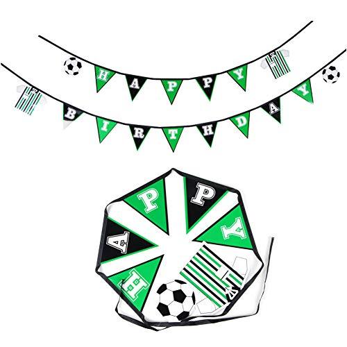 hday Girlande Fußball Party Dekoration zum Kindergeburtstag Geburtstag Junge Soccer Party (Fußball) ()