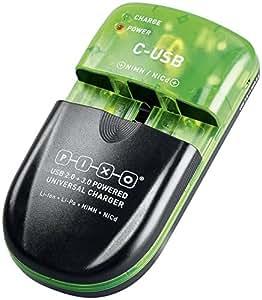 Pixo Chargeur Universel C-USB pour Appareil photo