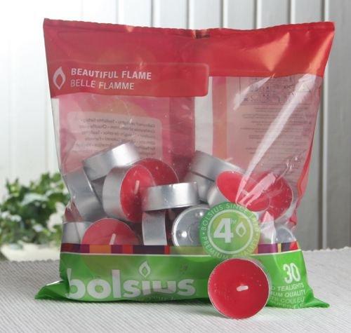 Farbige Teelichter (30er-Beutel), rot