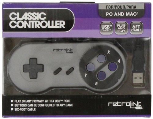 Retro-Bit SNES - Controller - Wired - PC USB Compatible - Classic Style