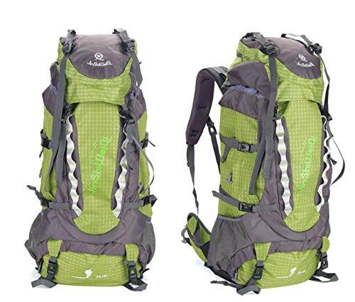 ROBAG Outdoor-Rucksack neue große Kapazität Rucksack im freien Männern und Frauen Klettern 80-Liter-Packung green