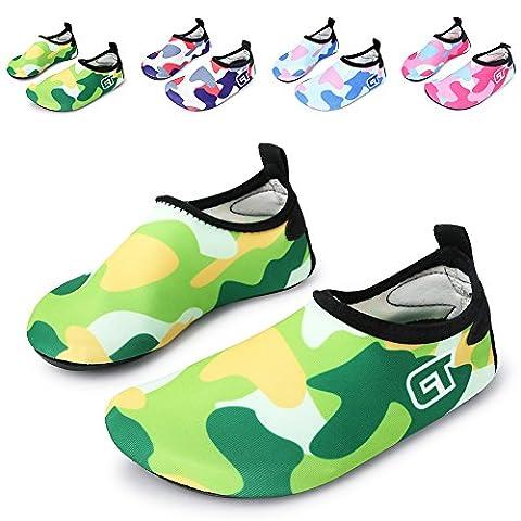 L-RUN Toddler Lightweight Swim Water Shoes Slip on Beach Aqua Socks for Surfing Yoga