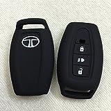 #3: Autoxygen Silicone Remote Key Cover For Tata Safari Storme/Aria 3 Button Push Button Start