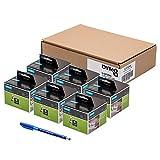 6 x Dymo S0722540 Original LabelWriter Vielzwecketiketten, abnehmbarer selbstklebend, 11354, 57 x 32 mm, 500/Rolle + Papermate Kugelschreiber Geschenk