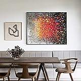 IODXAAFFCZ Ölgemälde Porchdecorative Paintingverticalcorridoraislemuralfeng Shui Paintingprägte Stereo 3D-Rekrut-wohlhabende Blumen, 90x130cm