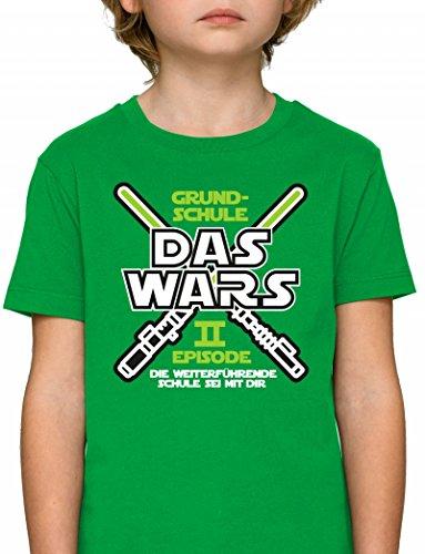 Einschulung Einschulungsgeschenk 5. Klasse Premium Bio Baumwoll Mädchen Jungen Kinder T-Shirt Stanley Stella Laserschwert Grundschule Das Wars - Episode II, Größe: 9/11,Fresh Green