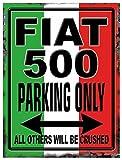 FIAT 500 PARKING Blechschild Stabil Flach Neu 15x20cm S5169