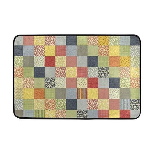 Klotr Fußabtreter, Quit Pattern Doormat,Area Rug Rugs Non-Slip Indoor Outdoor Floor Mat Doormats for Home Decor 23.6 X 15.7 Inch -