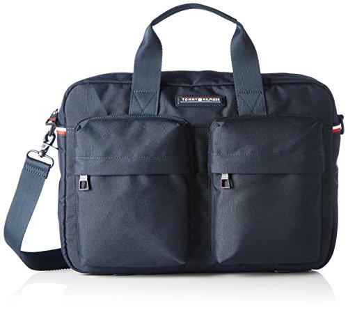 Tommy Hilfiger Computer Bag - Borse per PC portatili Uomo, Blau (Tommy Navy), 8x28x40 cm (L x H D)