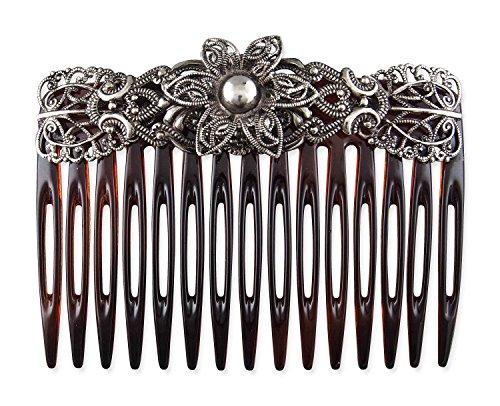 Rivelle Damen Trachten Haarkamm Pia Haarschmuck Vintage Einsteck-Kamm Hair Comb Hochzeit