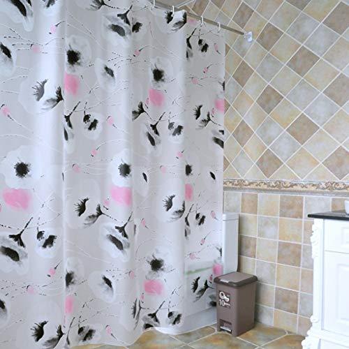 FDCC Erru Duschvorhang im Wasser und warme Dicke mit dem Test Der ildewproof WC Badezimmer Rideau Wasserdicht der Partition (Größe: 300cm*200cm)