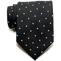 Retreez corbata para hombre, Retro, lunares cuadrados, tejida, corbata–varios colores negro negro Talla única