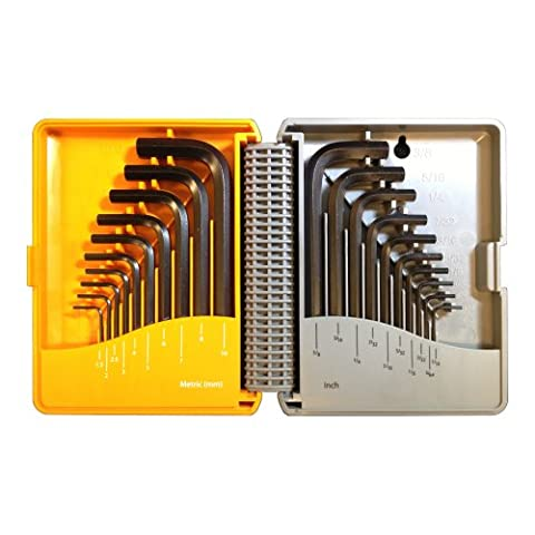 Xscorpion HKS-20MU Standard HEX Allen Keys Case Set of 20-Keys