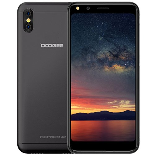 Handy Ohne Vertrag, DOOGEE X53 3G Dual SIM Smartphone Günstig Android 7.0, 5,3 Zoll 18:9 Display, 1GB RAM 16GB ROM, Quad Core Prozessor, Dual 5 MP Hauptkamera mit Autofokus - Schwarz
