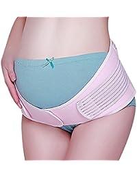 Flora Damen Schwangerschafts Bauch-Unterstützung Prenatal Postnatal Einfarbig Pastel