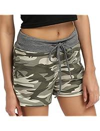 Short Imprimé Camouflage Femme,OverDose Été Casual Basique Sport Taille Haute Sexy Yoga Coton Pantalons