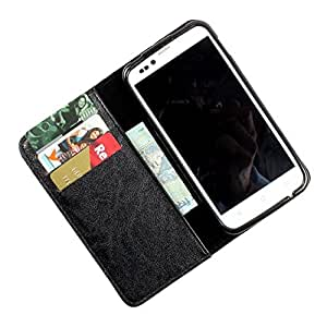 i-KitPit PU Leather Wallet Flip Case Cover For Samsung Galaxy Win / Galaxy Quattro (Black)