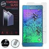 1 Film Vitre Verre Trempé de protection d'écran pour Samsung Galaxy Alpha SM-G850F/ Galaxy Alfa/ Alpha (S801)/ G850FQ G850Y G850A G850T G850M G850W G8508S - TRANSPARENT