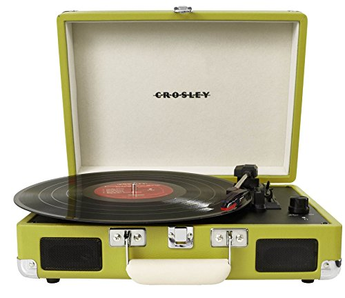 Crosley CR8005A - Tocadiscos Corriente alterna, Verde, 355,6 x 117,602 x 266,7 mm, 2,495 kg