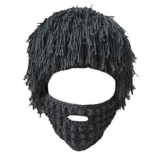 Imagen de m&a gorra gorro disfraz cosplay vagabundos con barba para carnaval halloween original para mujer y hombre gris