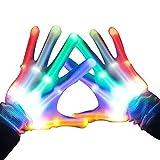 LED Party Handschuhe Bunte Licht Handschuhe Leuchtende Handschuhe Party Tanzen Halloween Weihnacht Handschuhe Beleuchtung Handschuhe Einheitsgröße