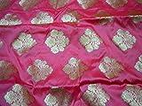 Banarasi Brokat-Stoff für Hochzeitskleid, Blumenmuster,
