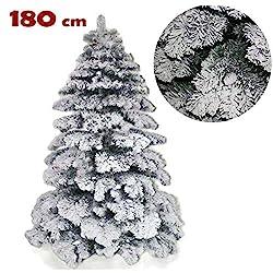 Bakaji Abete Snow, albero di Natale con neve da 180 cm, 210 cm e 240 cm